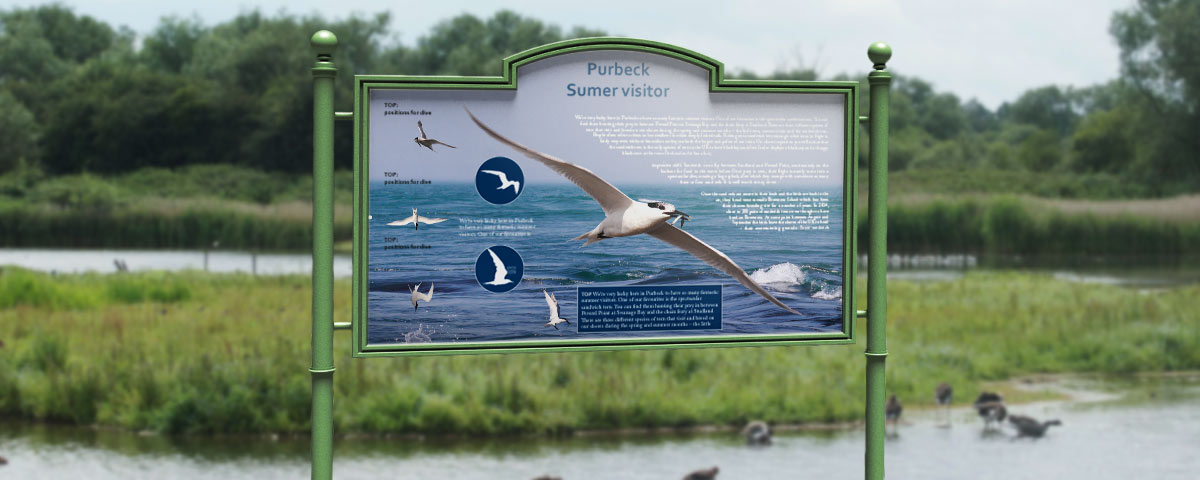 Outdoor interpretation board