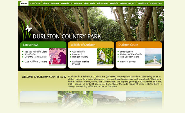 Web design for country parks and wildlife trusts