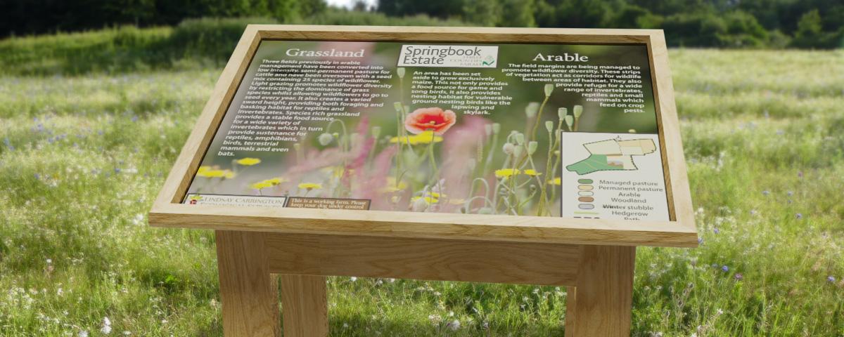 Long lasting outdoor display lecterns