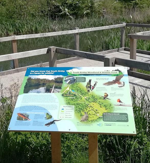 pond interpretation sign